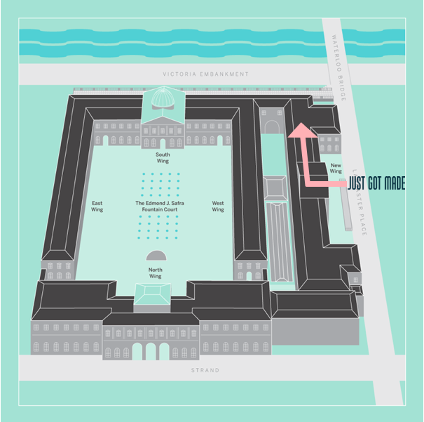 How to find us in Somerset House.