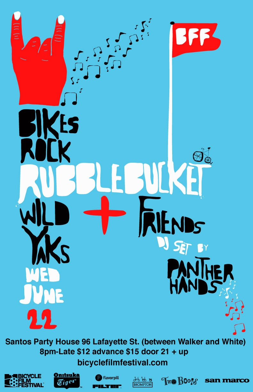 BFF NY Bikes Rock Poster