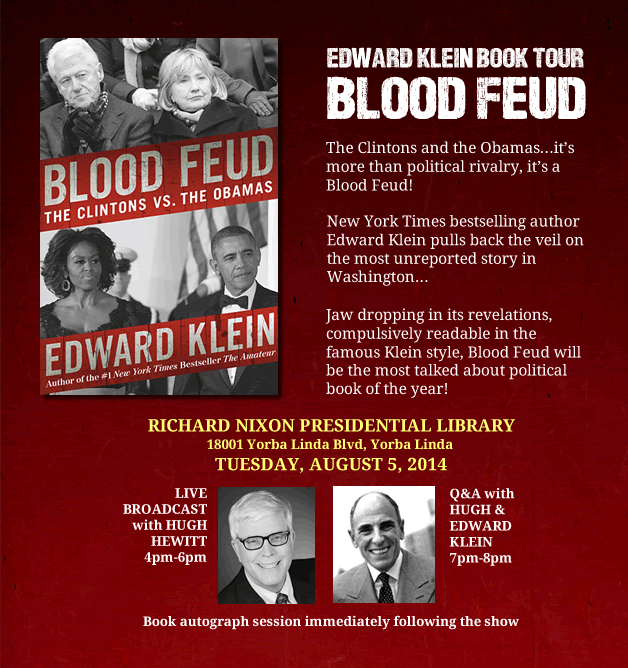 Blood Feud | Edward Klein Book Tour | Nixon Library