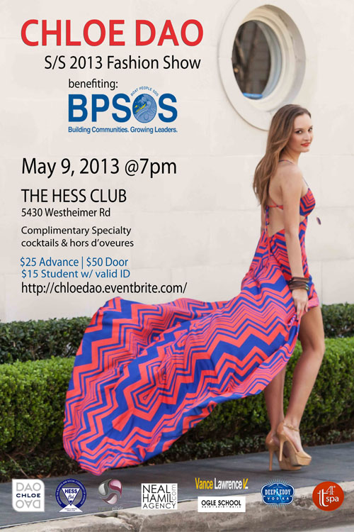 Chloe Dao S/S 2013 Fashion Show Benefiting BPSOS