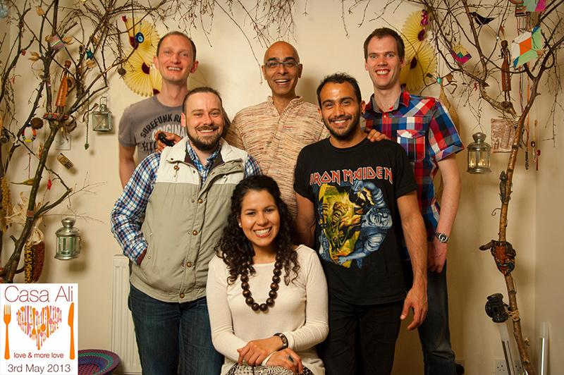 Group photo of guests at Casa Ali 3rd May dinner