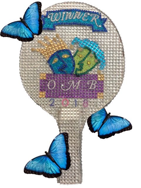 Ping Pong Paddle with butterflies
