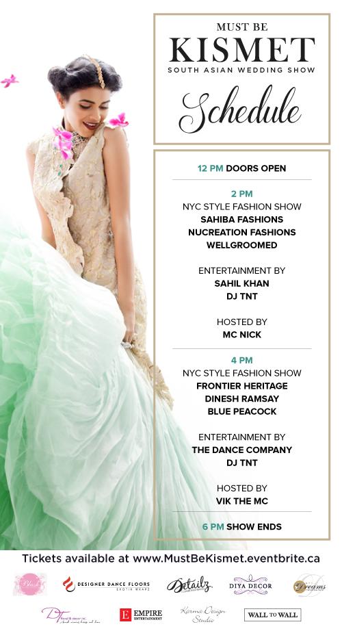 Fashion Show Schedule