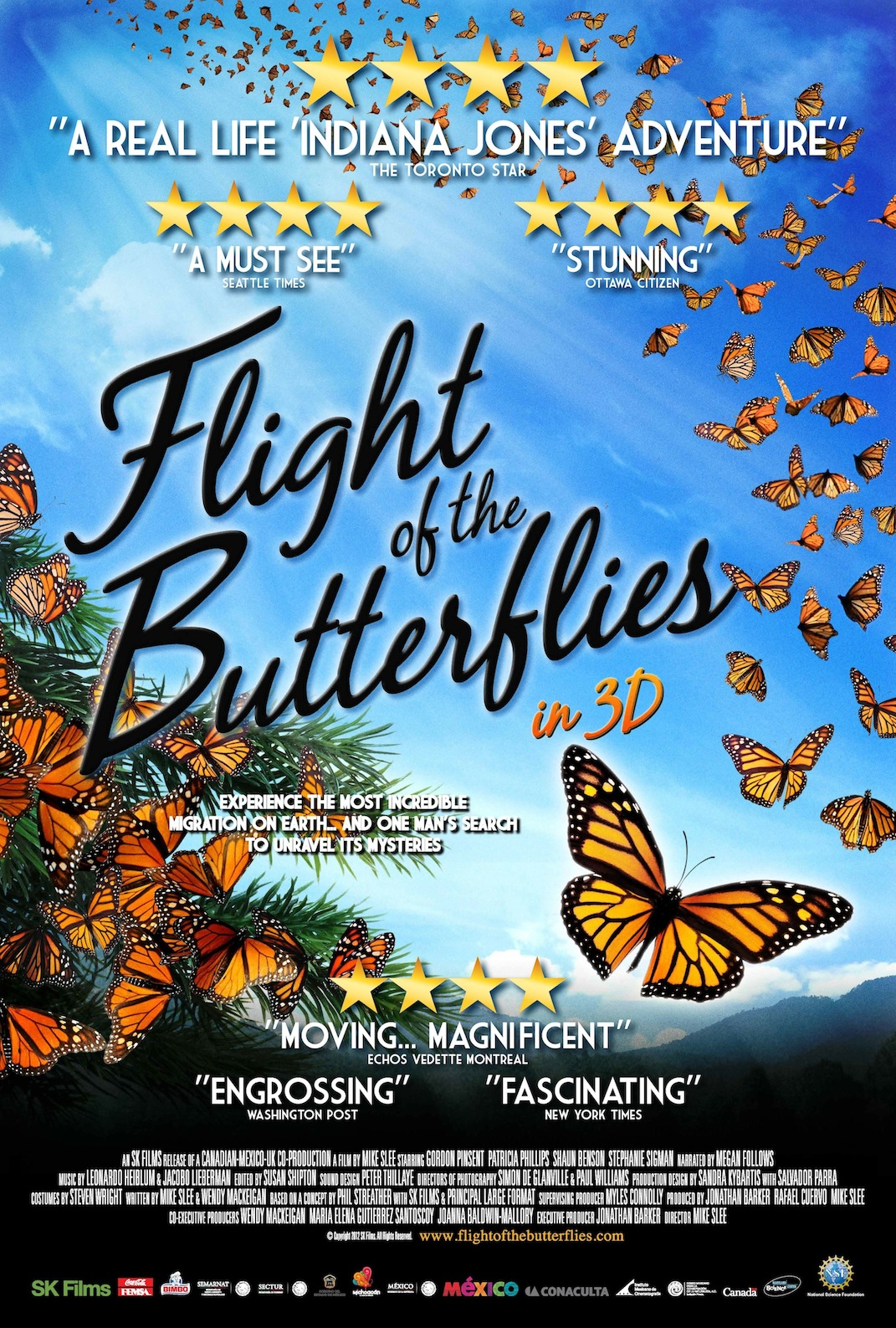 Poster for Flight of the Butterflies 3D by SK Films