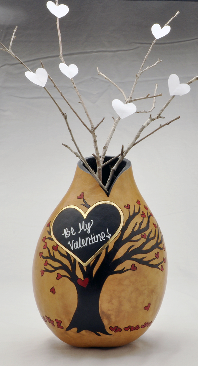 Gourd Heart Vase by Christy Barajas