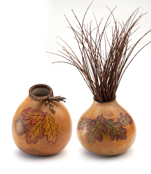 Gourd art by Laura Welburn