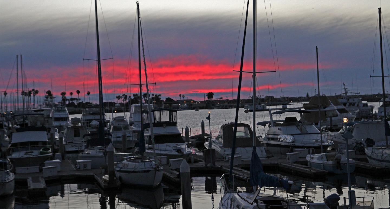 Marina Village sunset