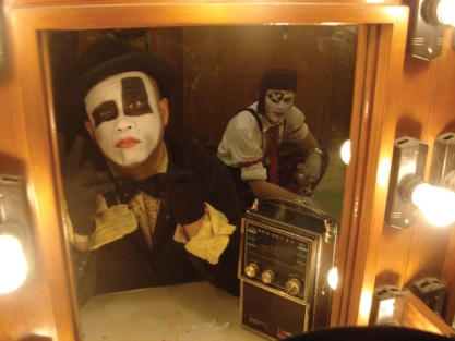 Clown in mirror