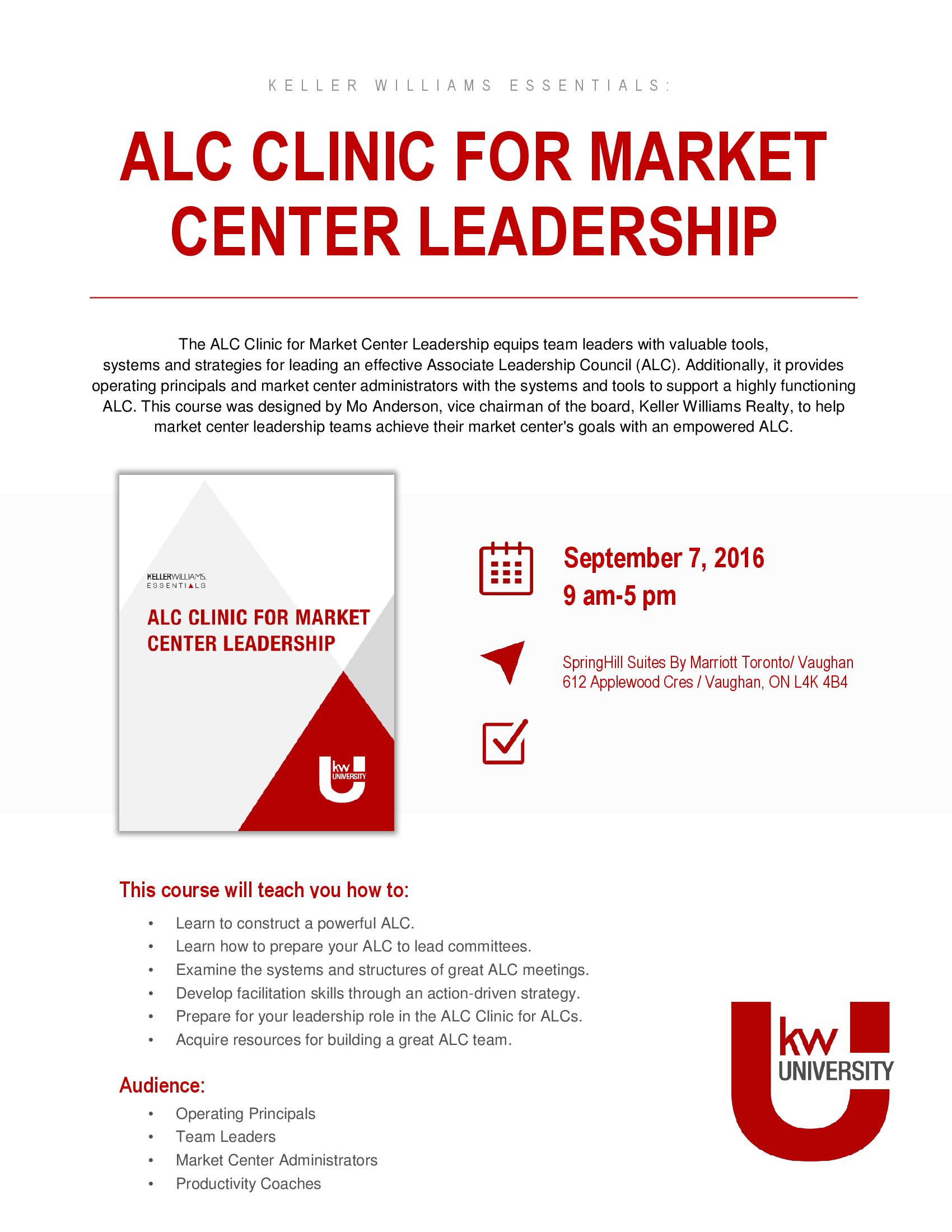 ALC Clinic Leadership