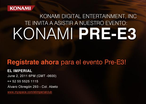 Konami Invites you to our Pre-E3 Show!