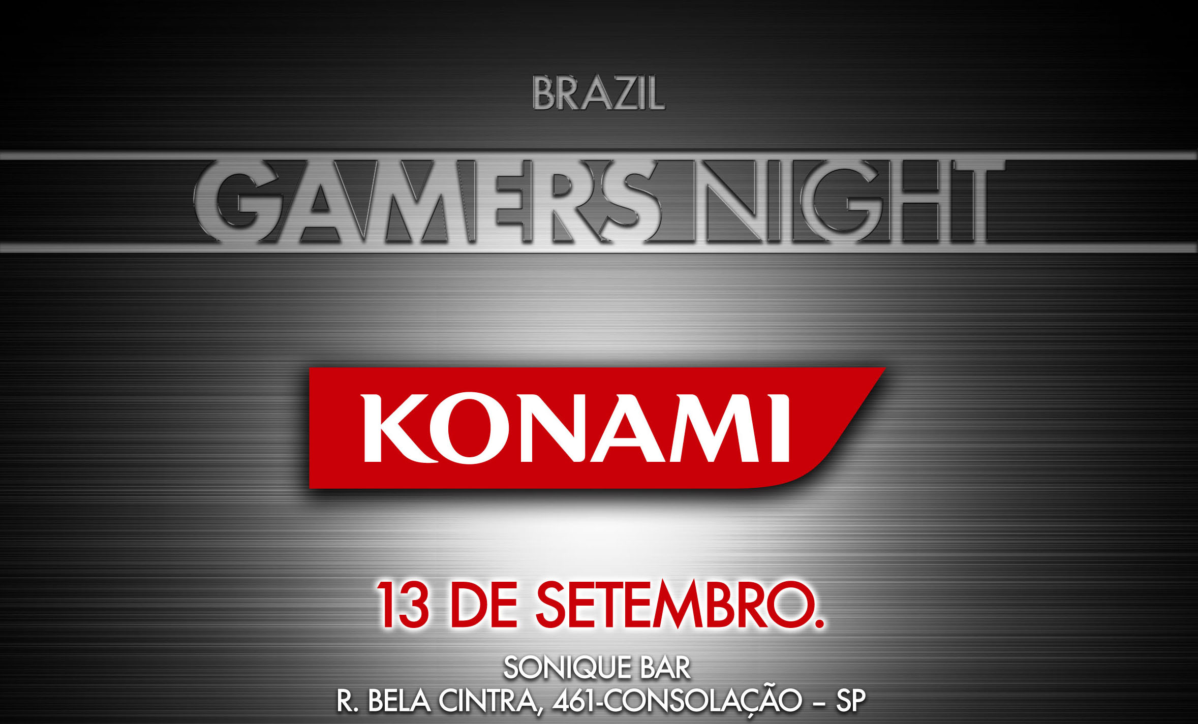 Brazil gamers night - Konami flyer