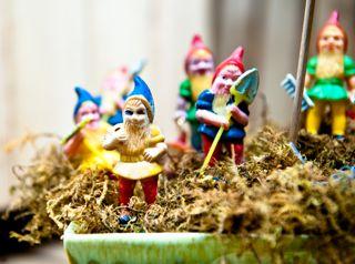 Army of Gnomes inside a Moss Terrarium