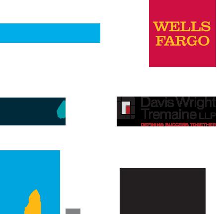 Sunrun, Wells Fargo, Fish & Richardson, Davis Wright Tremaine, PG&E, and Winston & Strawn