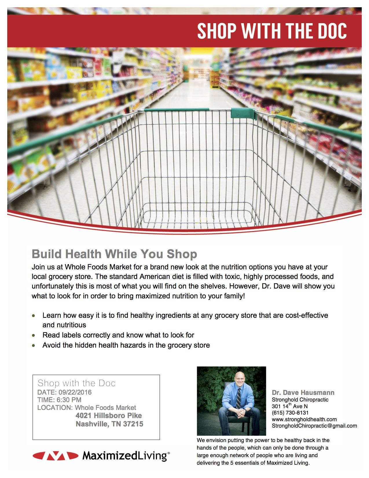 Shop With The Doc Flyer