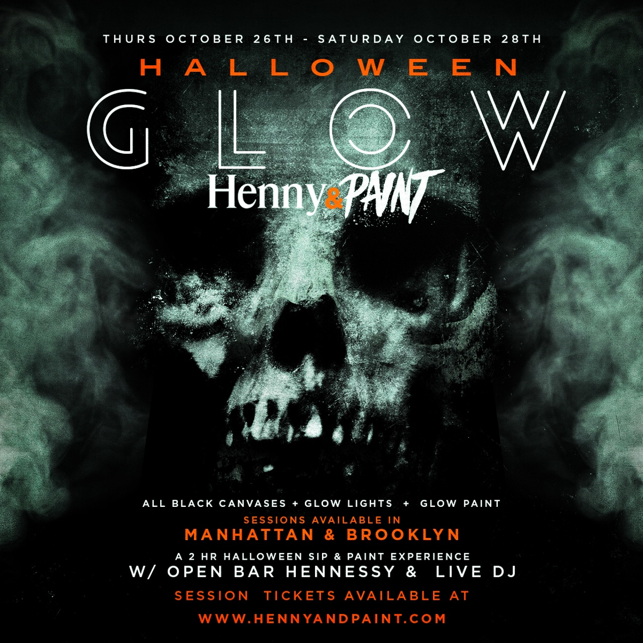 sat in nyc halloween henny n 39 paint glow tickets sat oct
