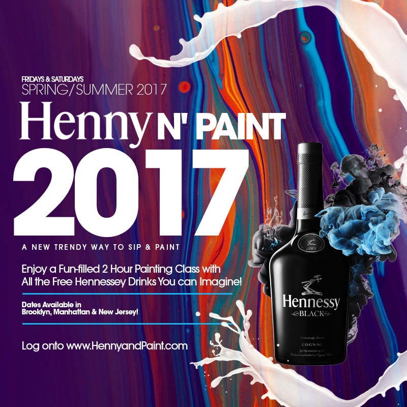New jersey henny paint tickets fri may 19 2017 at 7 for Henny and paint