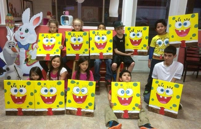 Juicebox paint a kids paint pizza party experience for Kids paint party