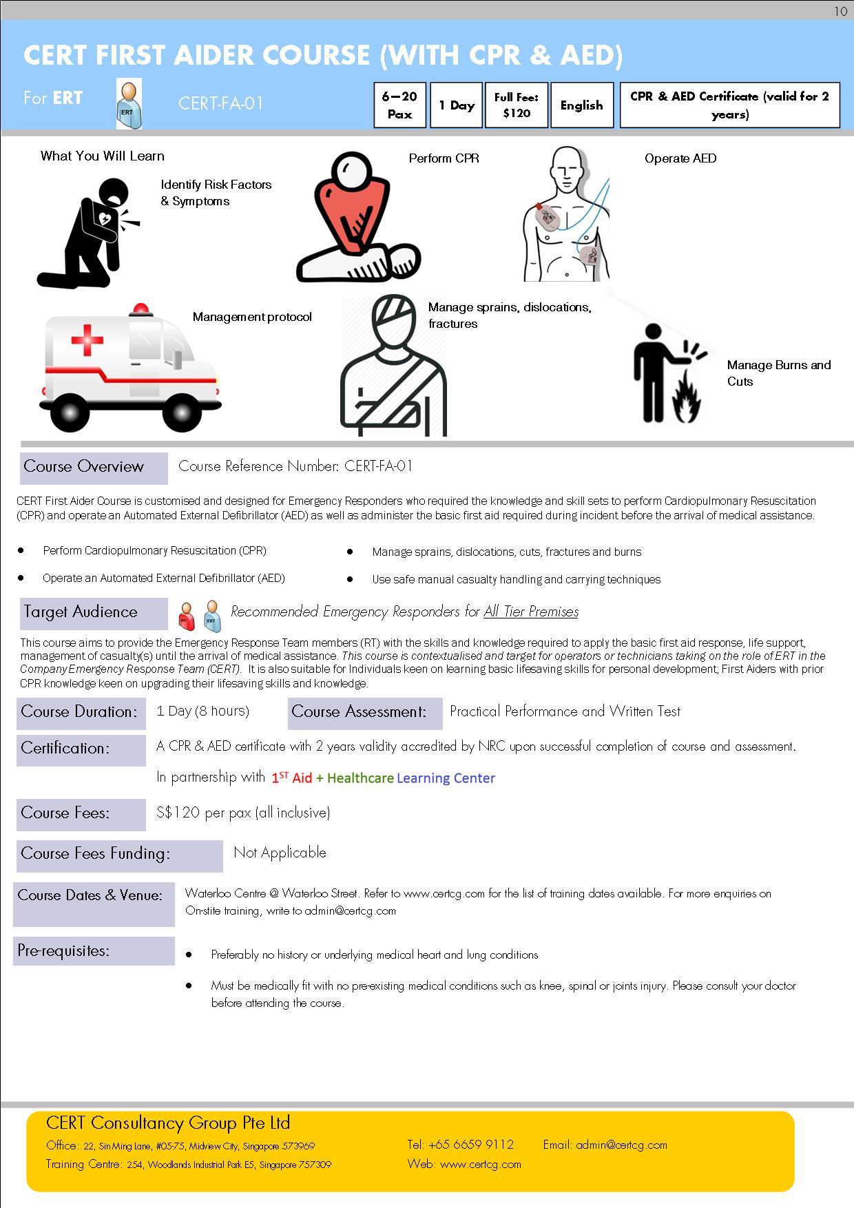 Cert first aider course cert fa 01 register run 10 registration cert first aid cpr aed xflitez Gallery