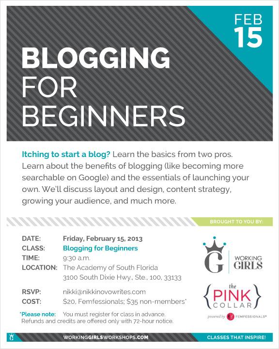 Blogging Class Miami