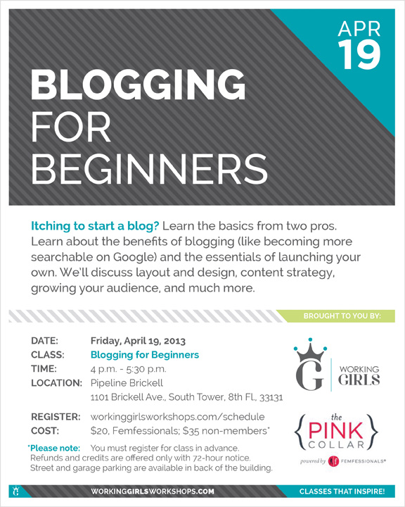 Blogging for Beginners - Blogging Class Miami