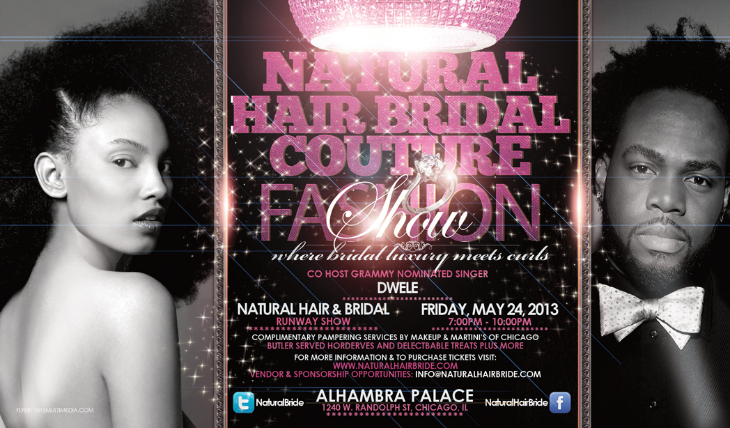 Natural Hair Bridal Couture Fashion Show Flyer