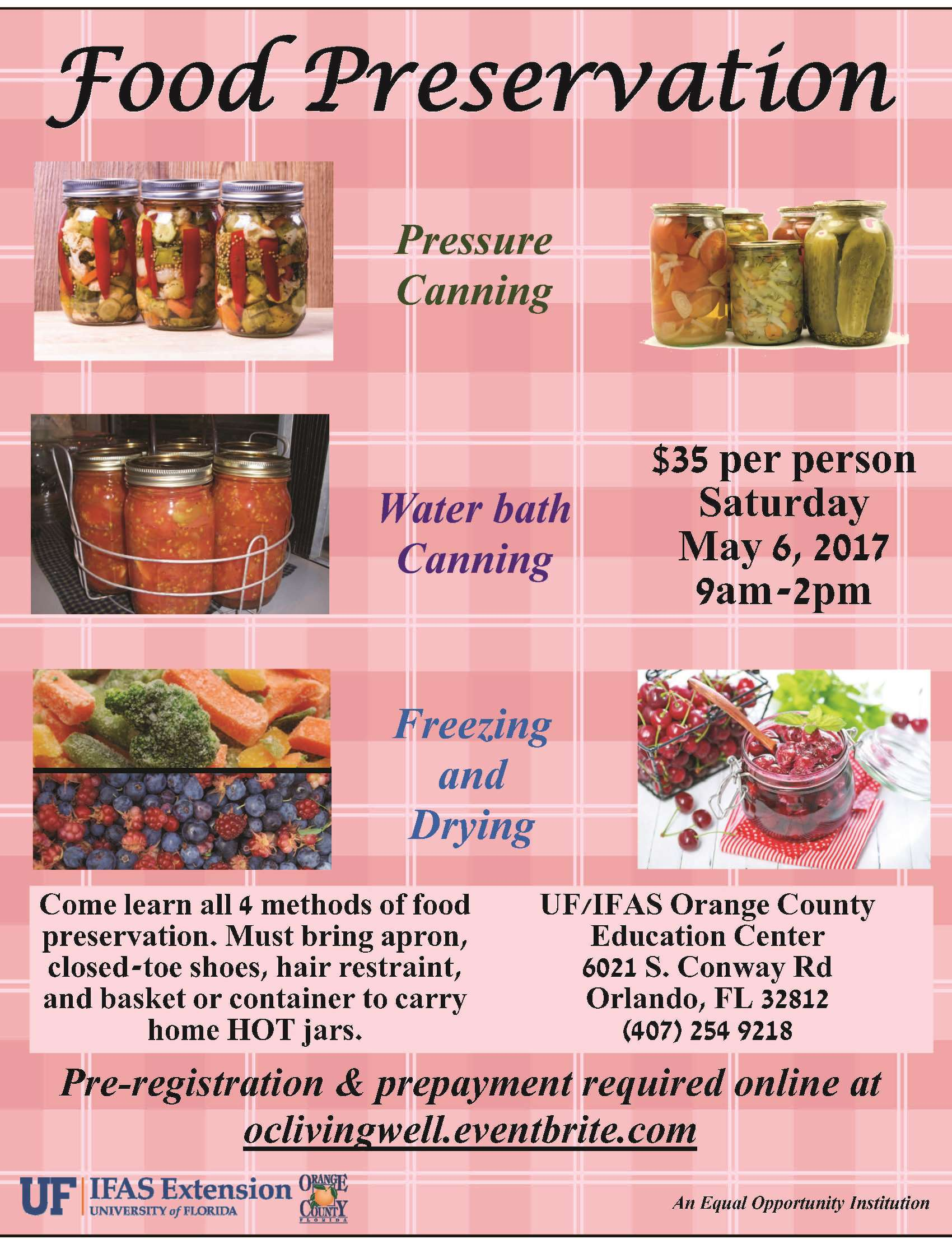 Sold out food preservation workshop tickets sat may 6 2017 at 9 policies cancellations if your class is canceled for any reason you will be notified no less than 24 hours prior to class start forumfinder Choice Image