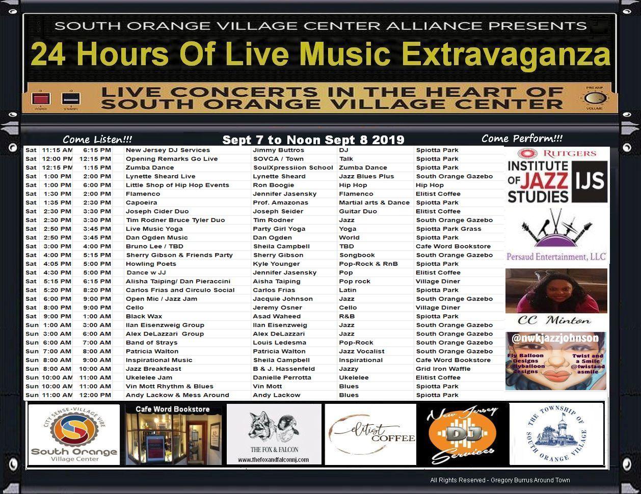 24 Hours of Music South Orange NJ