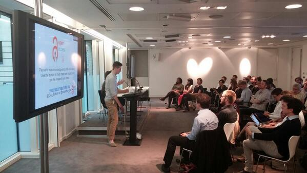 Joseph McArthur presenting at the second FuturePub event