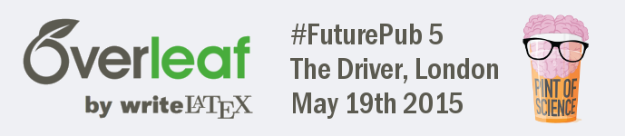 FuturePub 5 event logo Overleaf PoS