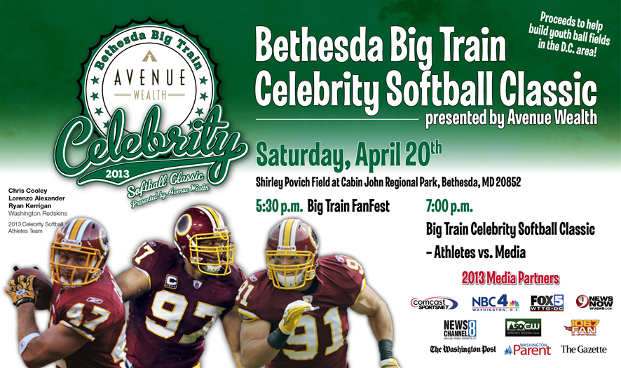 Bethesda Big Train Celebrity Softball Classic 2014 ...