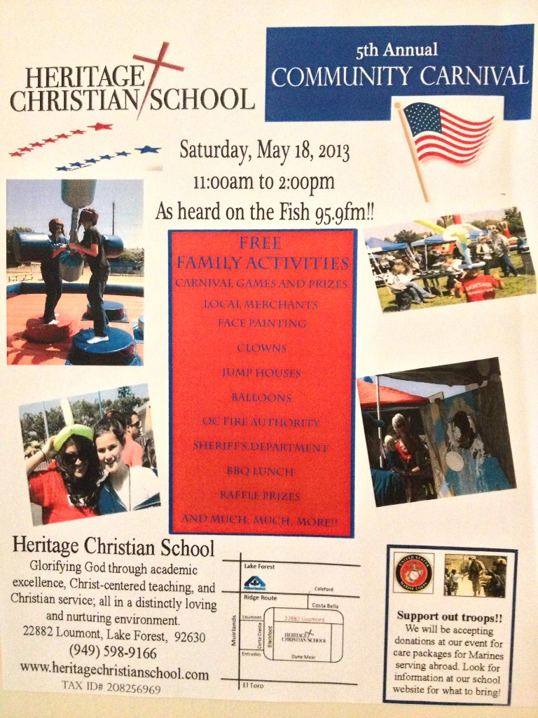 Free Carnival Heritage Christian School