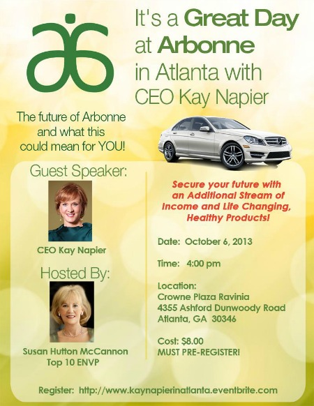 Kay Napier in Atlanta - October 6, 2013