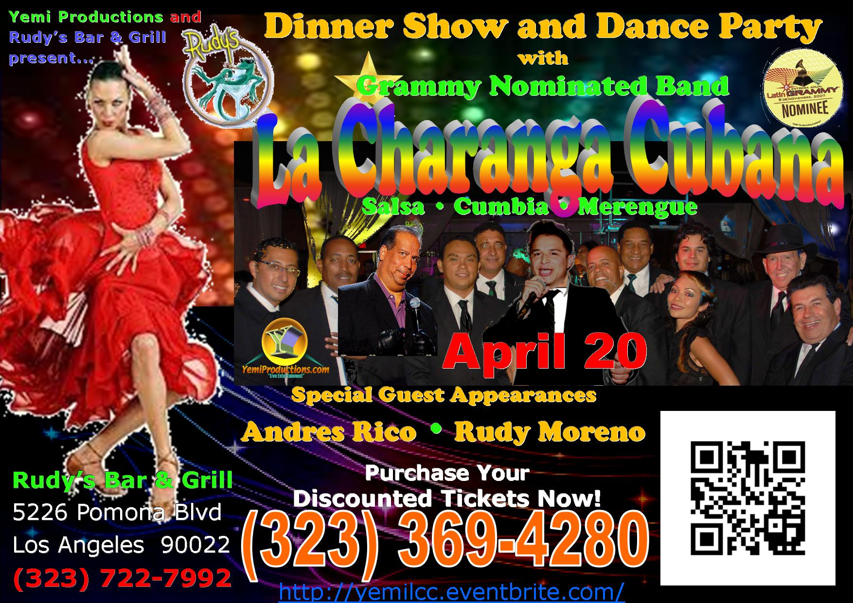 Salsa Dance Event @Rudy's With La Charanga Cubana