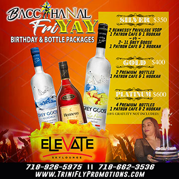 Bacchanal FriYaY - Bottle / Birthday Packages