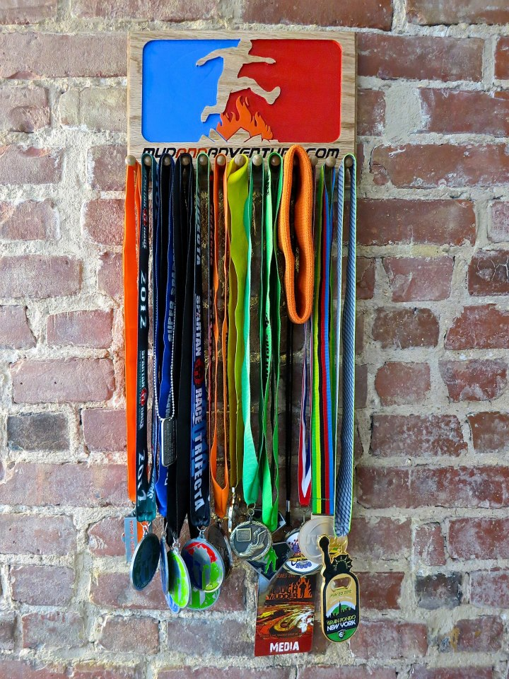 We will give one of these custom medal holders with donated medals to Medals for Mettle and another to a lucky attendee.