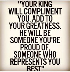 King will complement