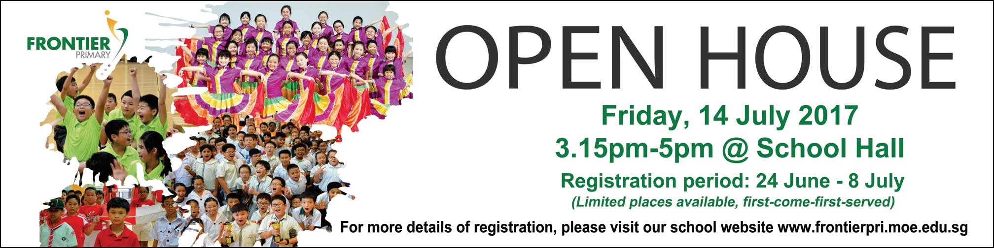 registration for frontier primary school open house 2017 tickets