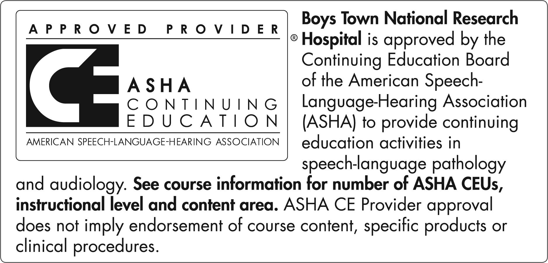 ASHA CEU Approval Logo