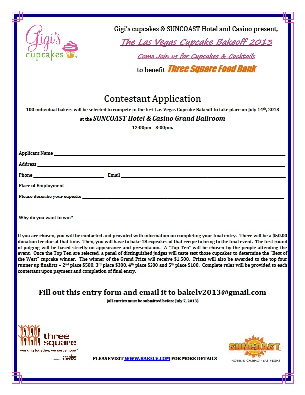 Contestant Application 2013