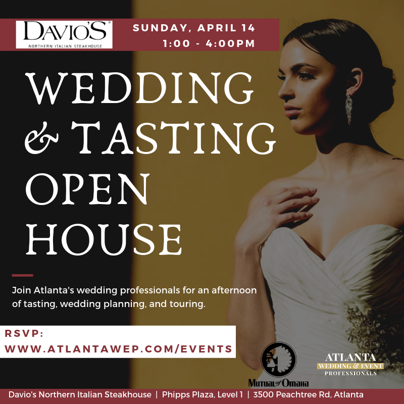 Davio's Wedding and Tasting Open House by Atlanta Wedding and Event Professionals