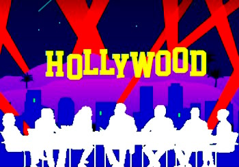 Hollywood Sign with Panel Silhouette