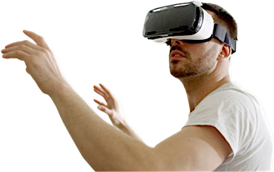 Guy in VR goggles