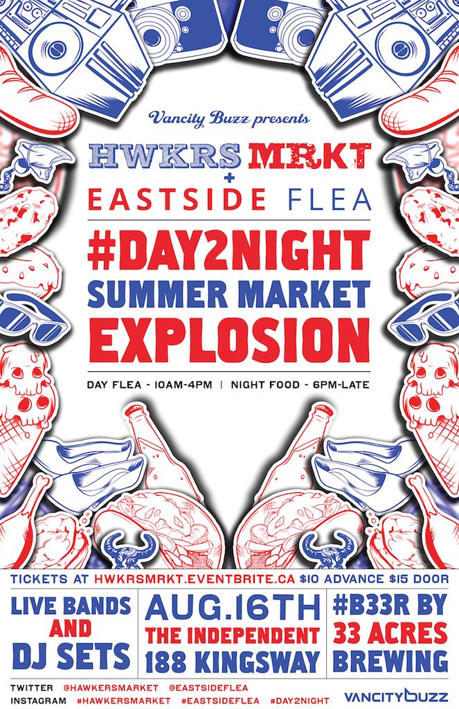Eastside Flea x Hawker's Market Day2Night poster