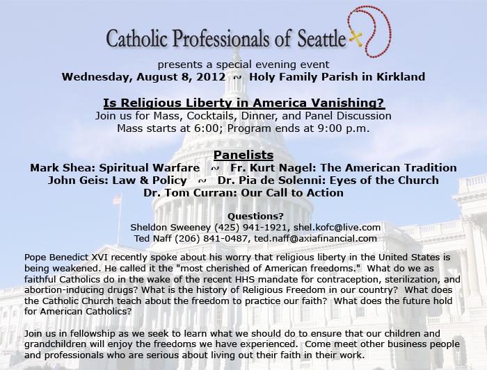 Take Action for Religious Freedom Aug. 8, 2012