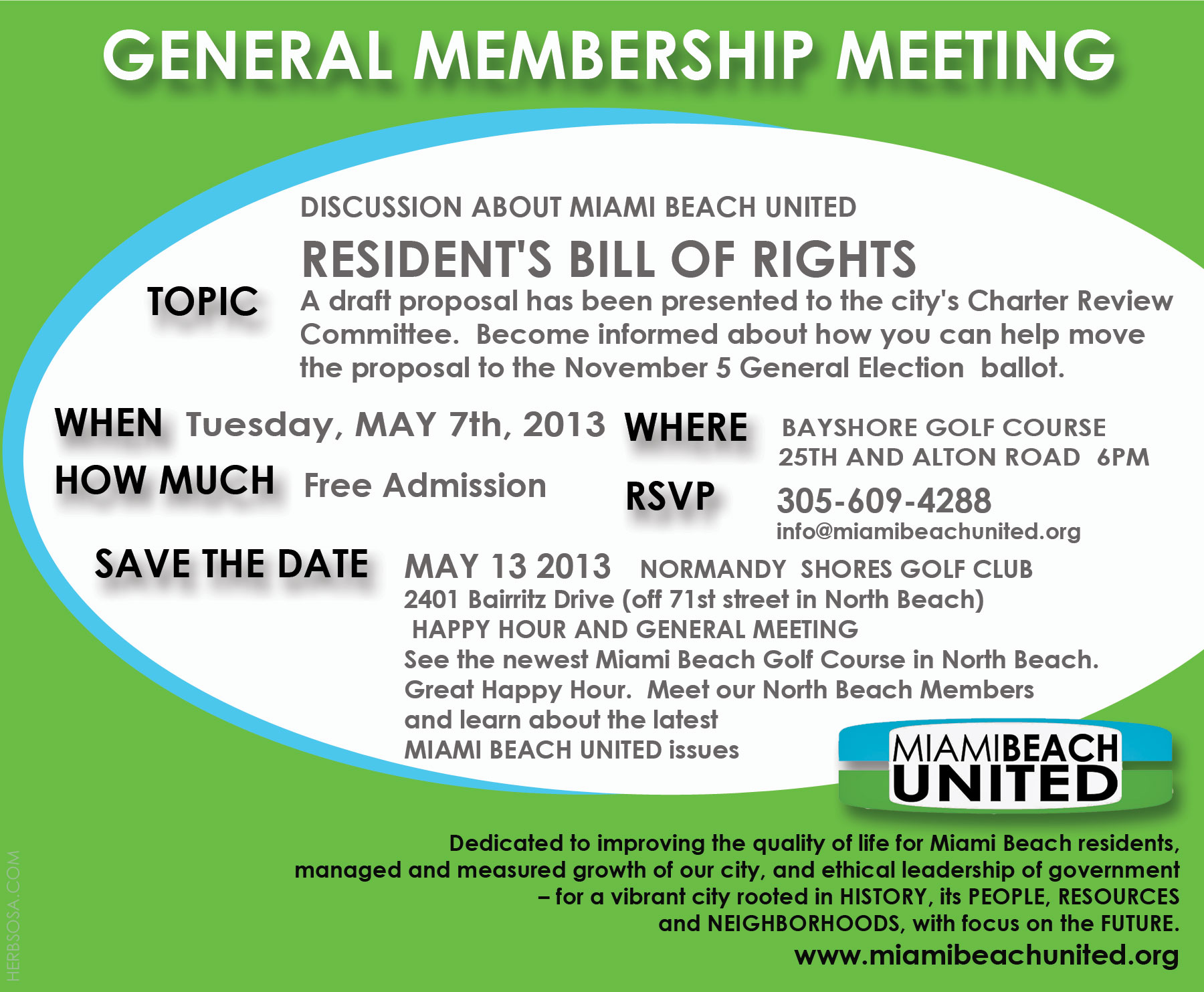 Miami Beach United May 7th Meeting Announcement