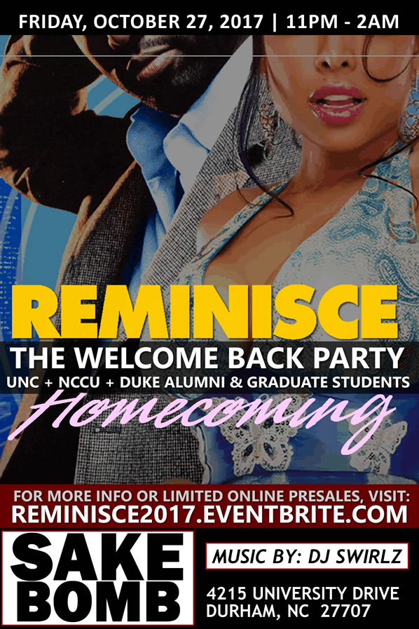 Reminisce | A Welcome Back Homecoming Party