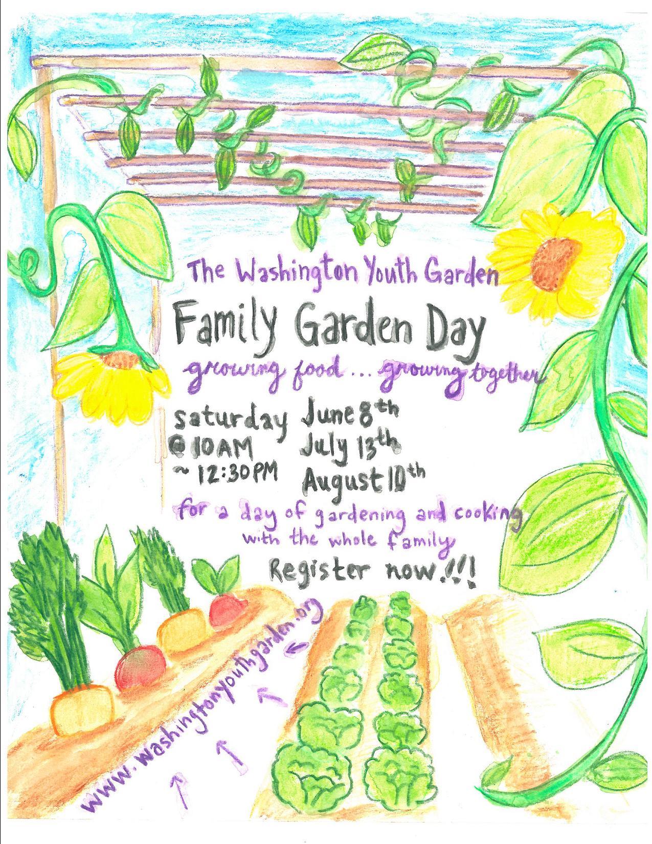 Famiy Garden Day Poster