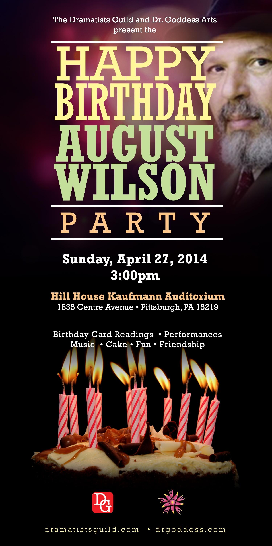 happy birthday august wilson flyer