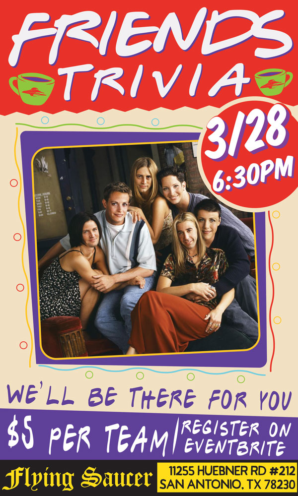 Flying Saucer Friends Trivia March 28