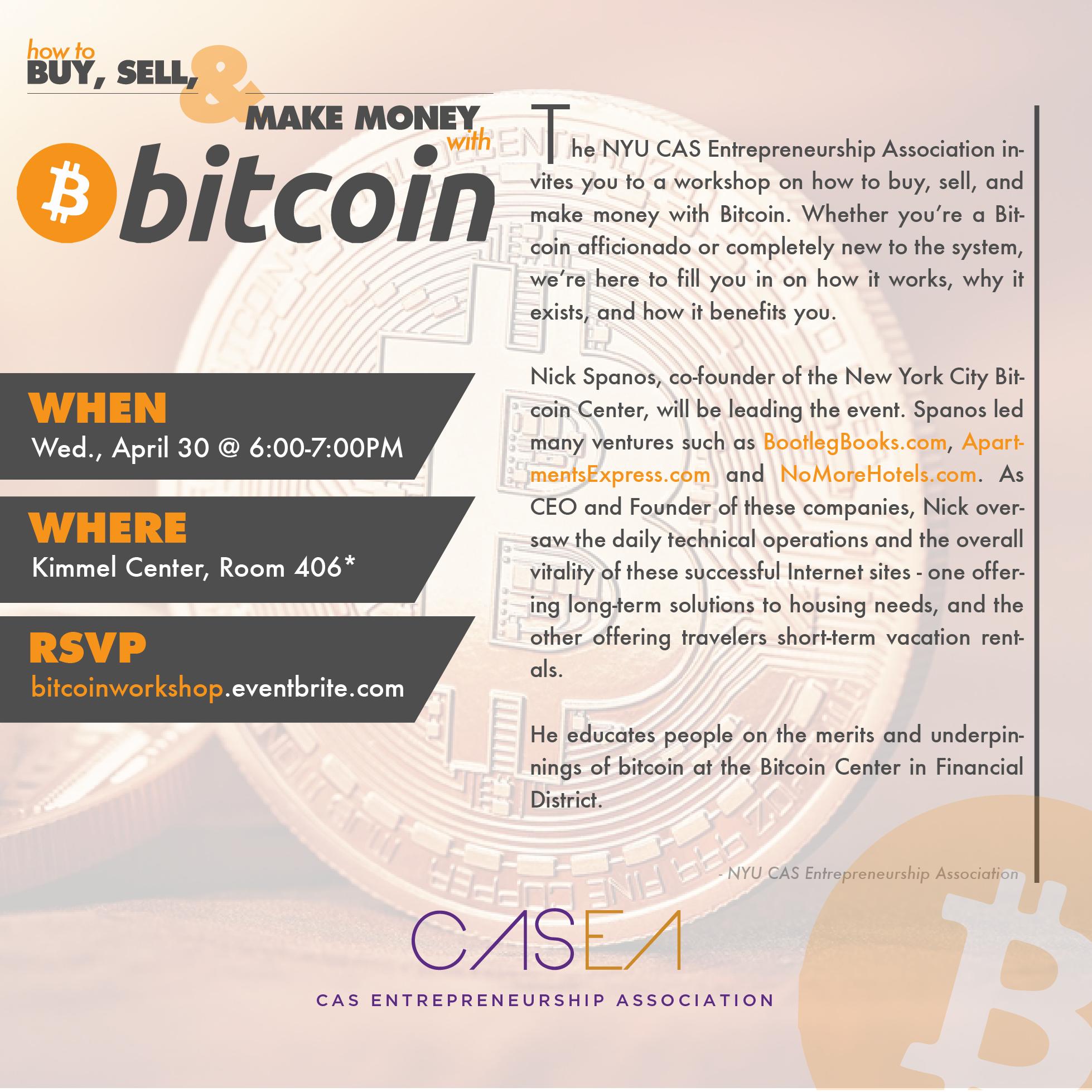 CASEA Bitcoin Workshop
